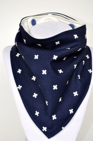 Navy Cross bandana bib with bamboo back