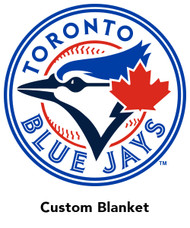 Toronto Blue Jays minky backed blanket