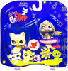 Littlest Pet Shop 2009 Assortment A Series 4 Cat & Bunny Figure 2-Pack #981 [Yellow, Pedestal]