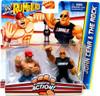 WWE Wrestling Rumblers Series 2 John Cena & The Rock Mini Figure 2-Pack