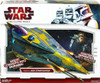 Star Wars The Clone Wars Vehicles 2009 Anakin's Jedi Starfighter Action Figure Vehicle [Yellow Trim]