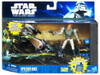 Star Wars The Clone Wars Vehicles & Action Figure Sets 2011 Speeder Bike with Castas Action Figure Set