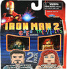 Iron Man 2 Minimates Exclusives Stark Expo Tony Stark & Natalie Romanova Exclusive Minifigure 2-Pack