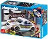 Playmobil Police Car Repair Shop and Race Car with Headlights Set #4365