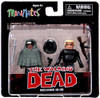 The Walking Dead Minimates Series 4 Michonne [Poncho] & Gabe Minifigure 2-Pack