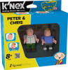 K'NEX Family Guy Peter & Chris Minifigure 2-Pack #44040