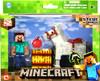 Minecraft Steve & Horse Figure 2-Pack [White Horse]