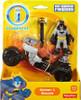 Fisher Price DC Super Friends Imaginext Batman & Batcycle 3-Inch Figure Set