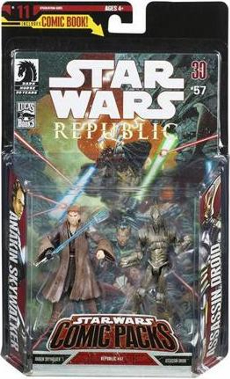 Star Wars Expanded Universe Comic Packs 2007 Anakin Skywalker & Assassin Droid Action Figure 2-Pack