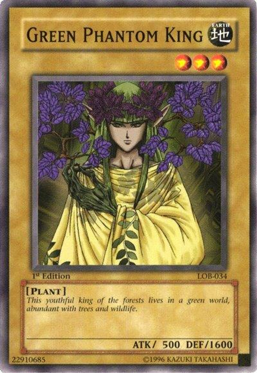 YuGiOh Legend of Blue Eyes White Dragon Common Green Phantom King LOB-034