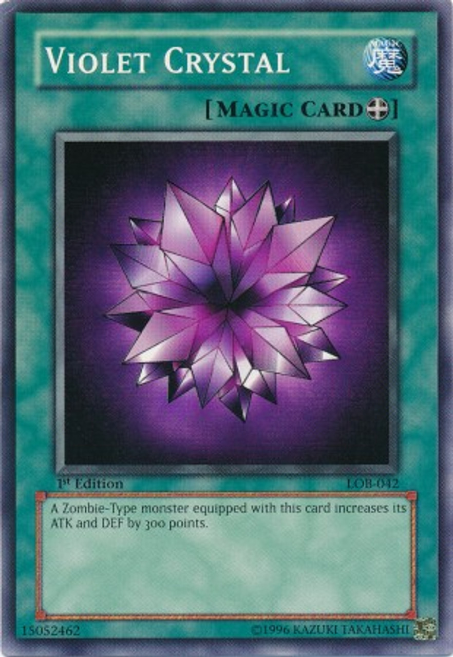 YuGiOh Legend of Blue Eyes White Dragon Common Violet Crystal LOB-042