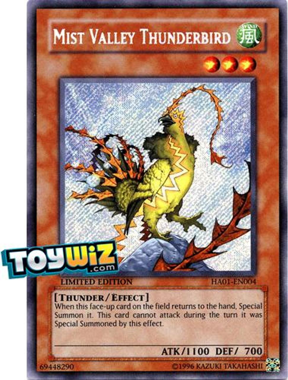 YuGiOh Hidden Arsenal 1 Secret Rare Thunder Bird of Mist Valley HA01-EN004
