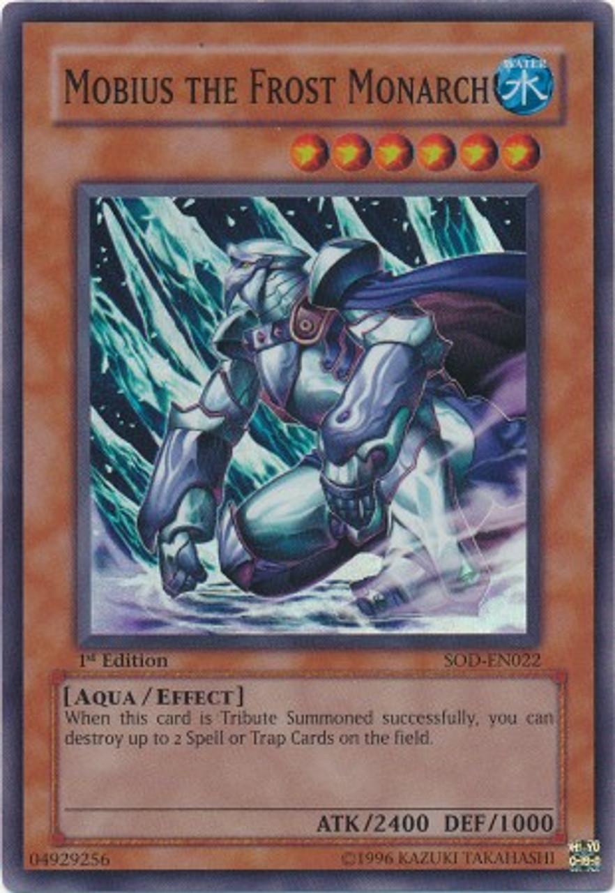 YuGiOh Soul of the Duelist Super Rare Mobius the Frost Monarch SOD-EN022