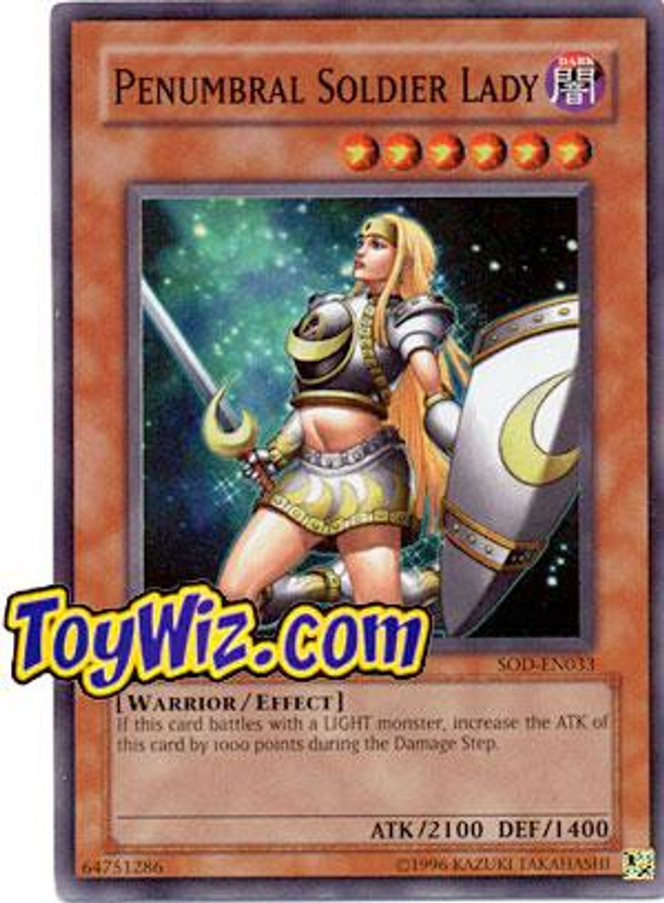 YuGiOh Soul of the Duelist Super Rare Penumbral Soldier Lady SOD-EN033