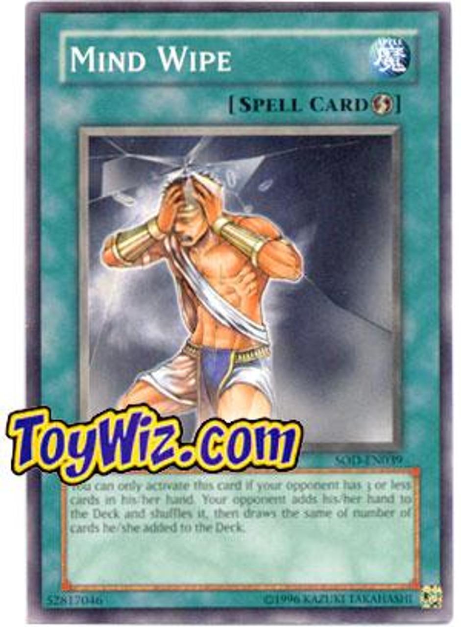 YuGiOh Soul of the Duelist Common Mind Wipe SOD-EN039