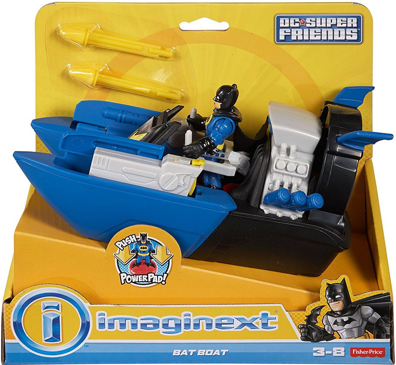 fisher price dc super friends batman imaginext bat boat 3 figure