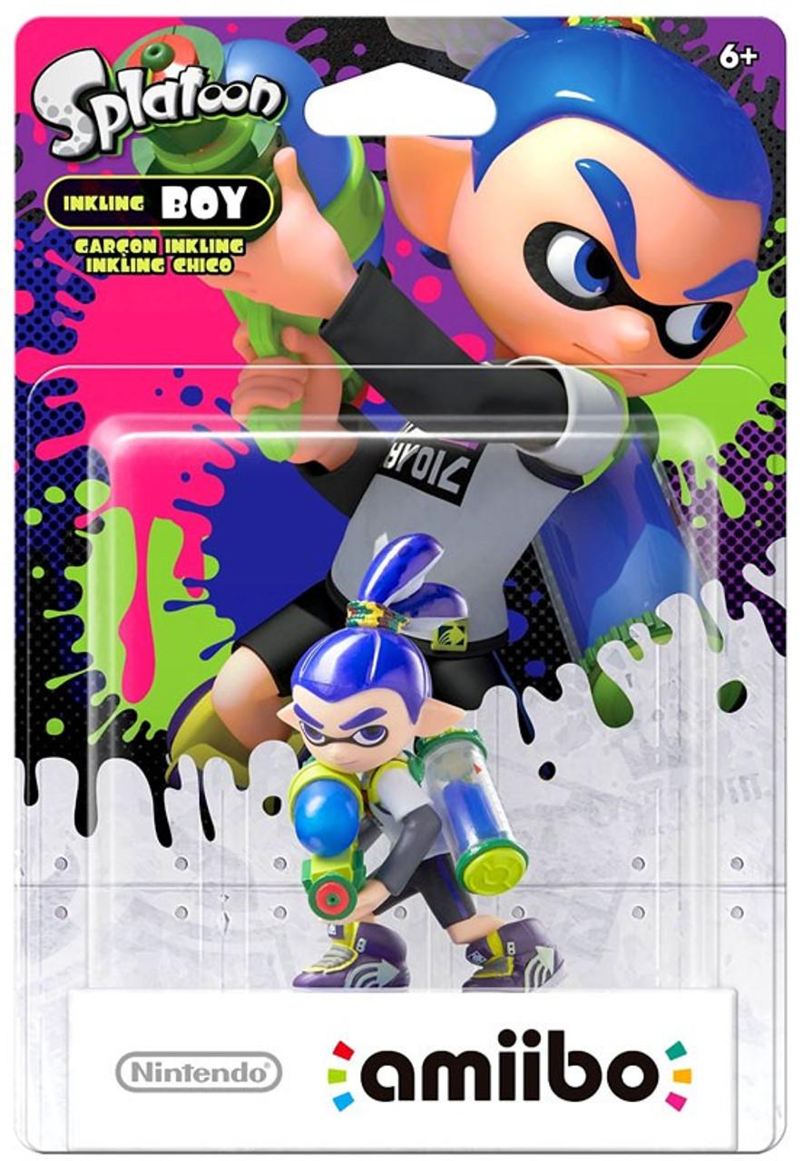 Nintendo Splatoon Amiibo Inkling Boy Mini Figure Blue