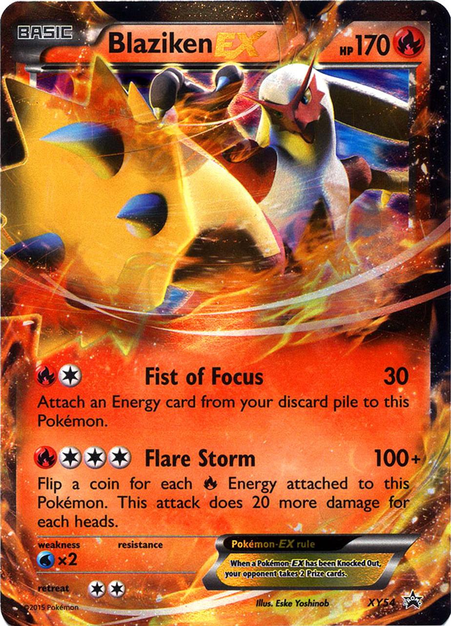 Pokemon x y promo single card ultra rare holo blaziken ex - Pokemon x pokemon rare ...