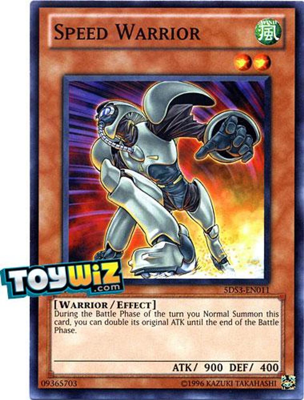 YuGiOh 5D's 2010 Duelist Toolbox Common Speed Warrior #5DS3-EN011