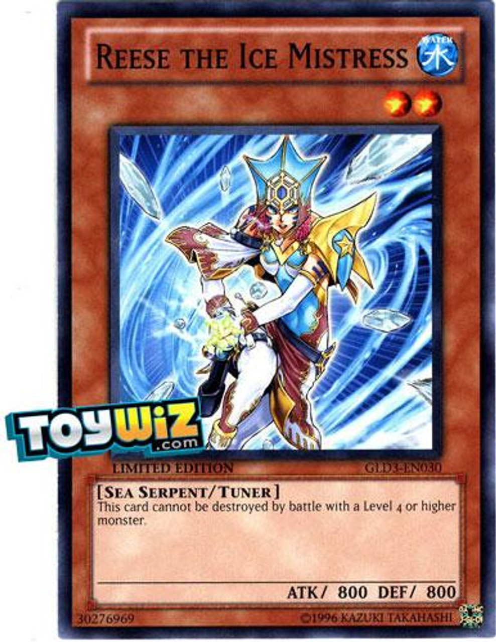 YuGiOh Gold Series 3 2010 Common Reese the Ice Mistress GLD3-EN030