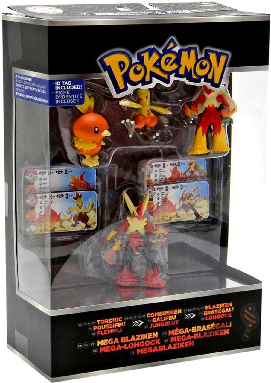Pokemon xy torchic combusken blaziken mega blaziken mini figure 4 pack tomy toywiz - Pokemon mega evolution blaziken ...