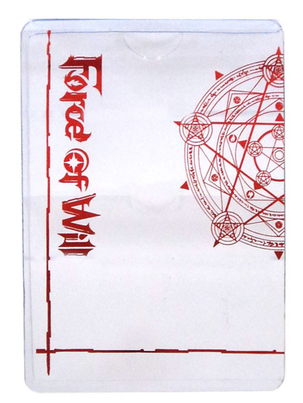 Force Of Will Promo J Ruler Protector Sleeve Accessory Red