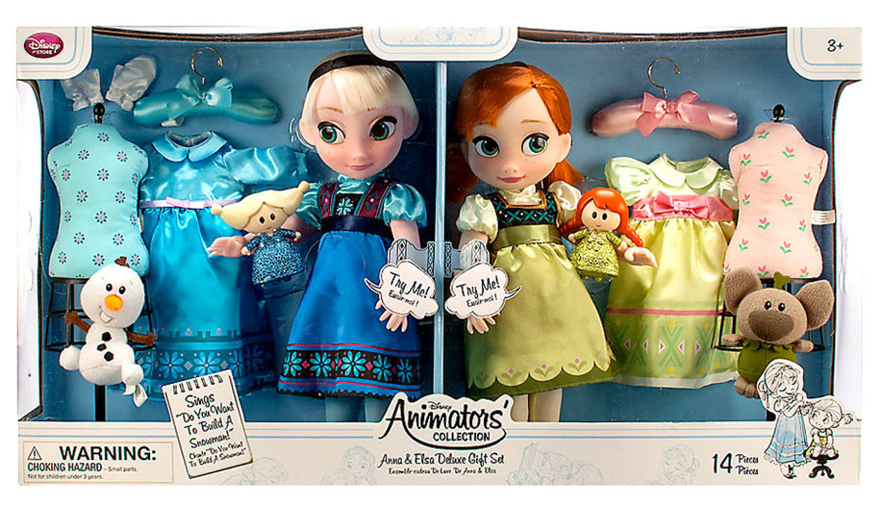 Disney Frozen Animators Collection Anna Elsa Deluxe 16 ...