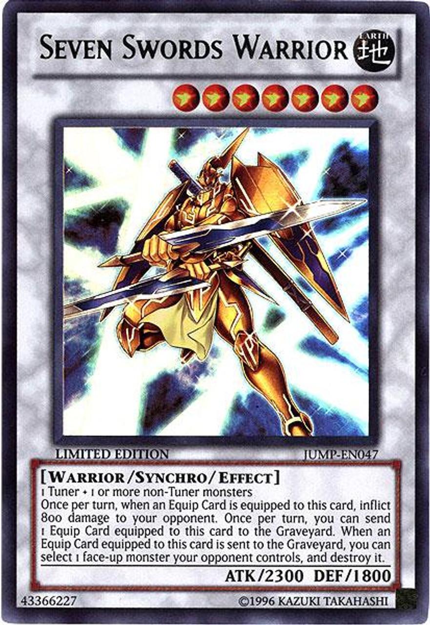 YuGiOh Shonen Jump Ultra Rare Seven Sword Warrior JUMP-EN047