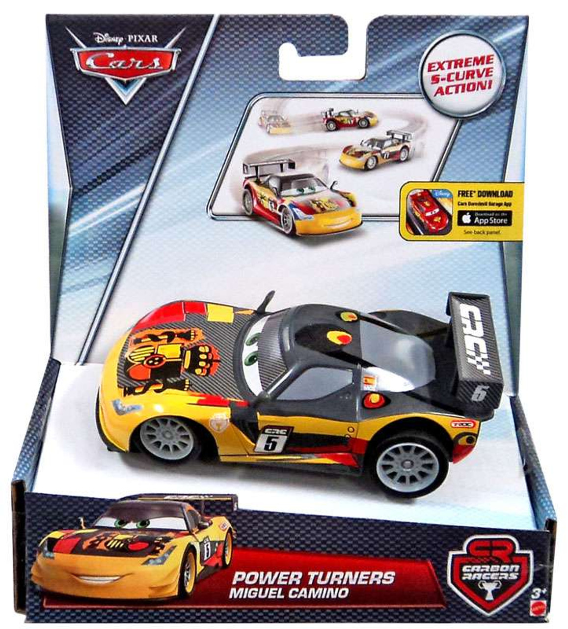 Car Toys Product : Disney cars carbon racers miguel camino power turners car