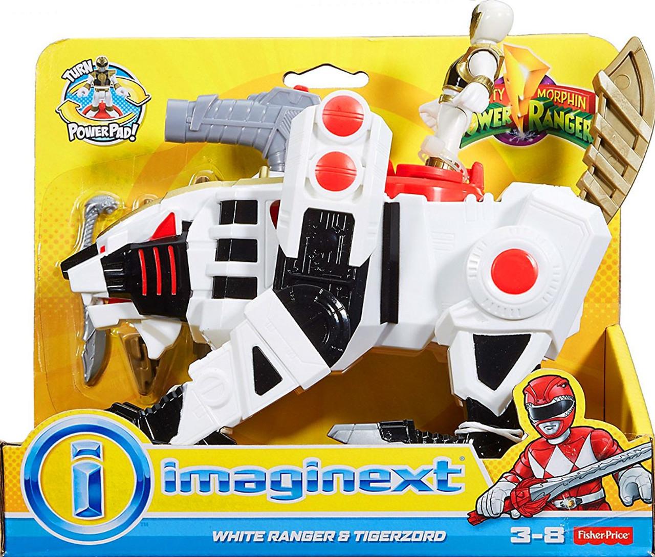 power rangers mighty morphin imaginext white ranger tigerzord