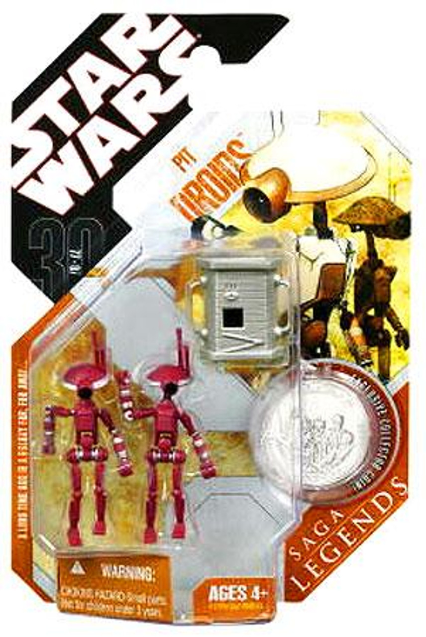 Star Wars The Phantom Menace Saga Legends 2007 30th Anniversary Pit Droids Action Figure 2-Pack #24 [Maroon]