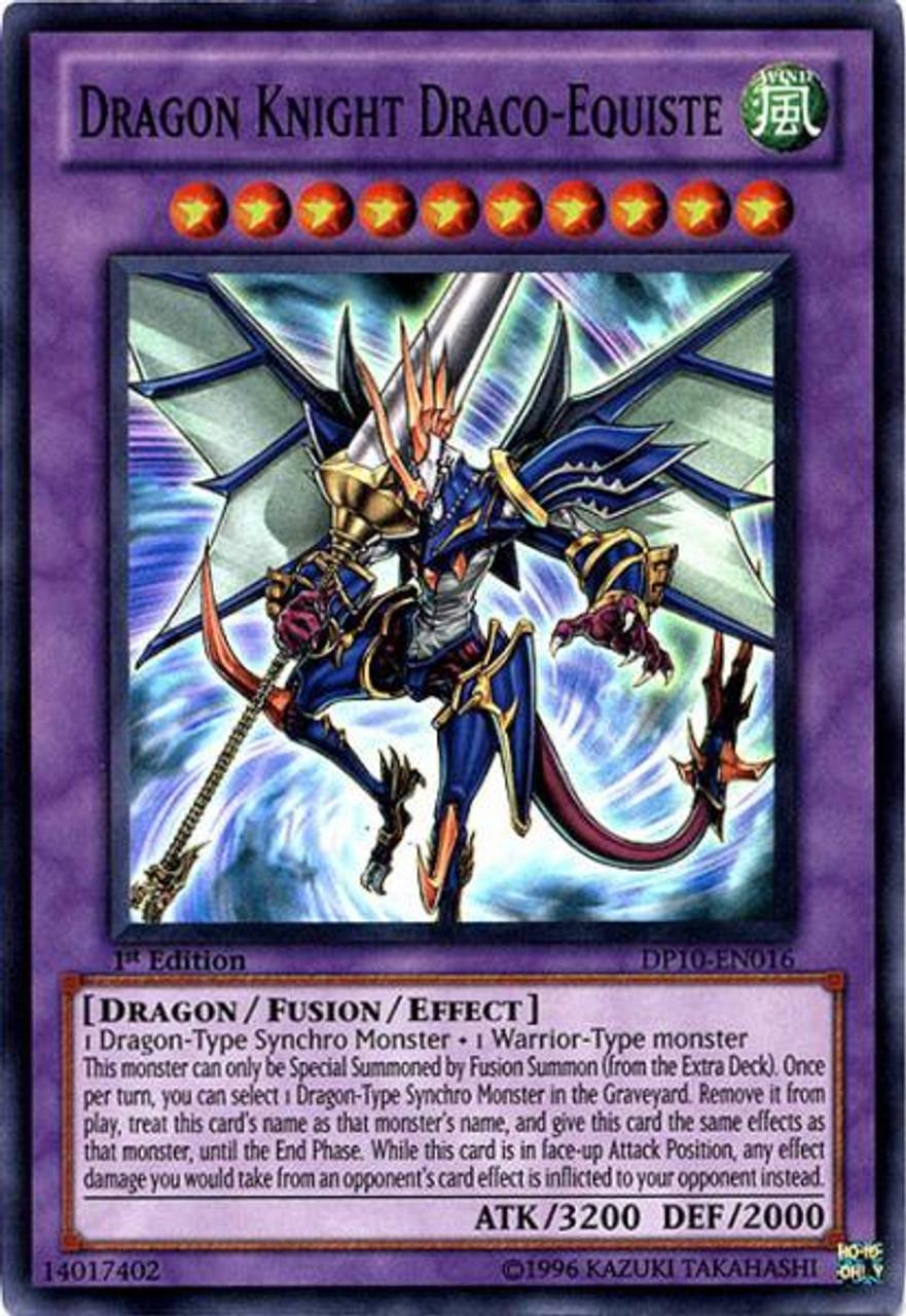 YuGiOh 5D's Duelist Pack Yusei Fudo 3 Super Rare Dragon Knight Draco-Equiste DP10-EN016