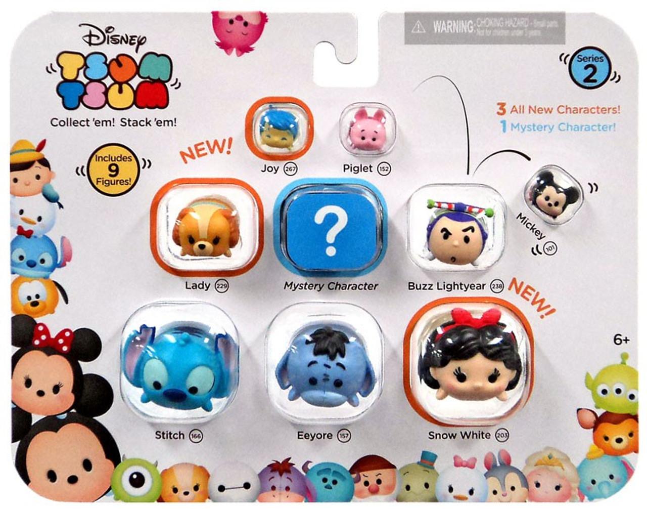 Disney Tsum Tsum Para Colorear Buzz Lightyear: Disney Tsum Tsum Series 2 Joy, Piglet, Mickey, Lady, Buzz