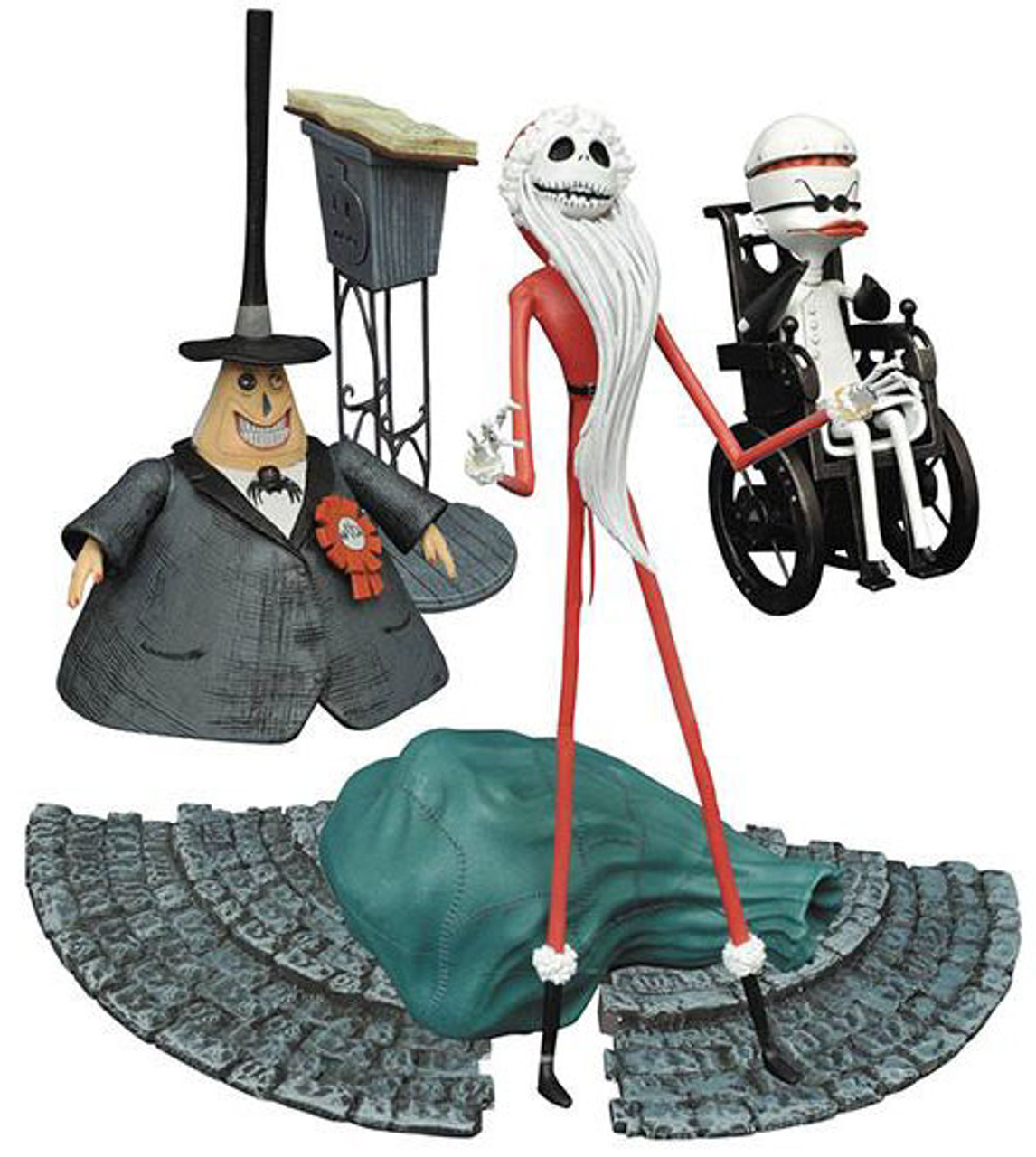 The Nightmare Before Christmas Select Series 2 Santa Jack, Mayor ...