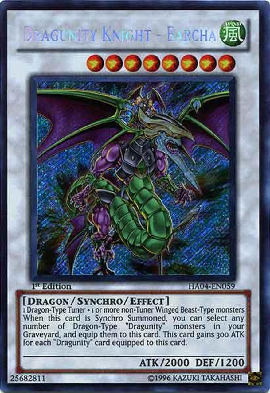 YuGiOh Hidden Arsenal 4: Trishula's Triumph Secret Rare Dragunity Knight - Barcha HA04-EN059