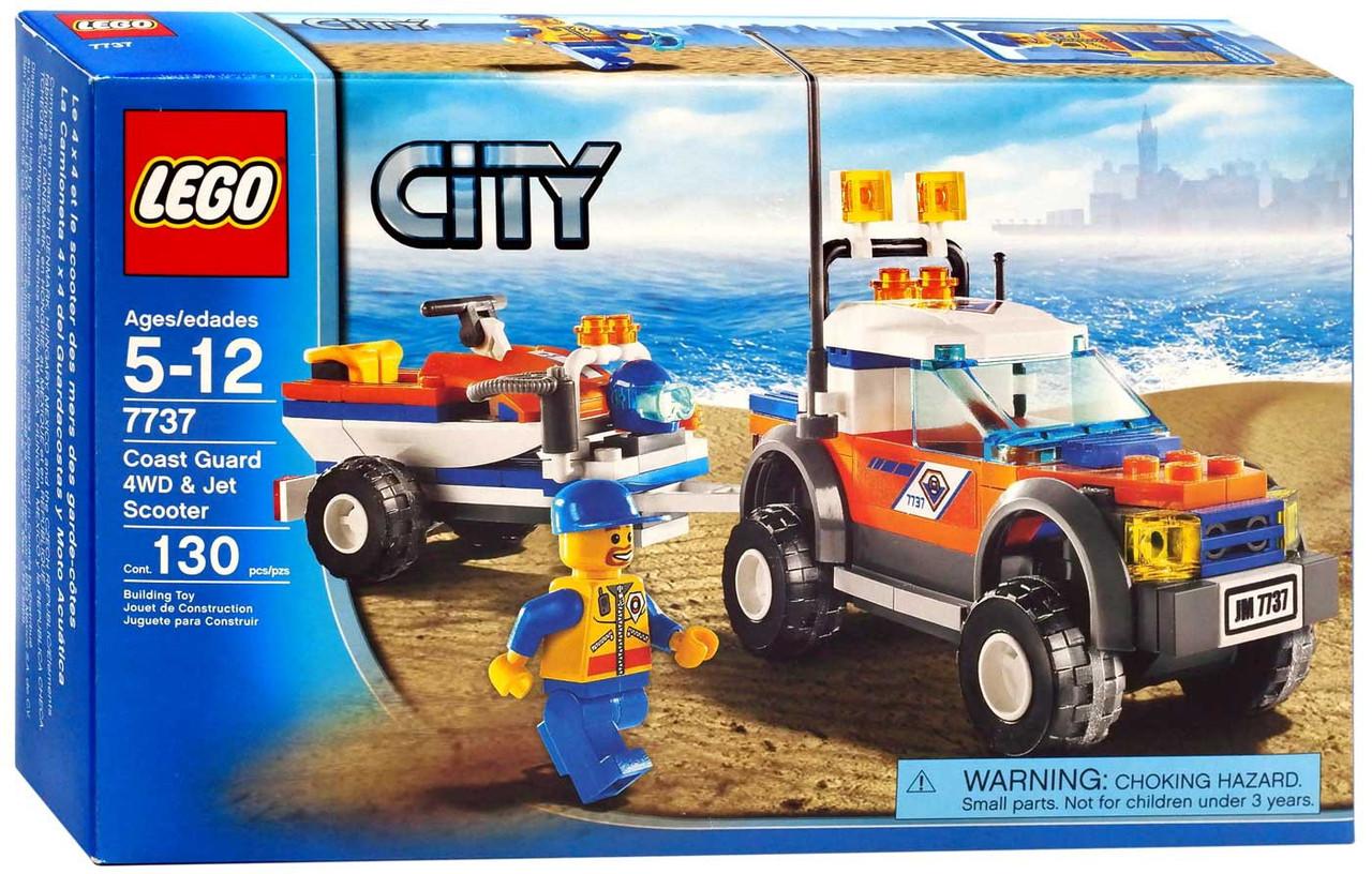 LEGO City Off Road Vehicle & Jet Scooter Set #7737