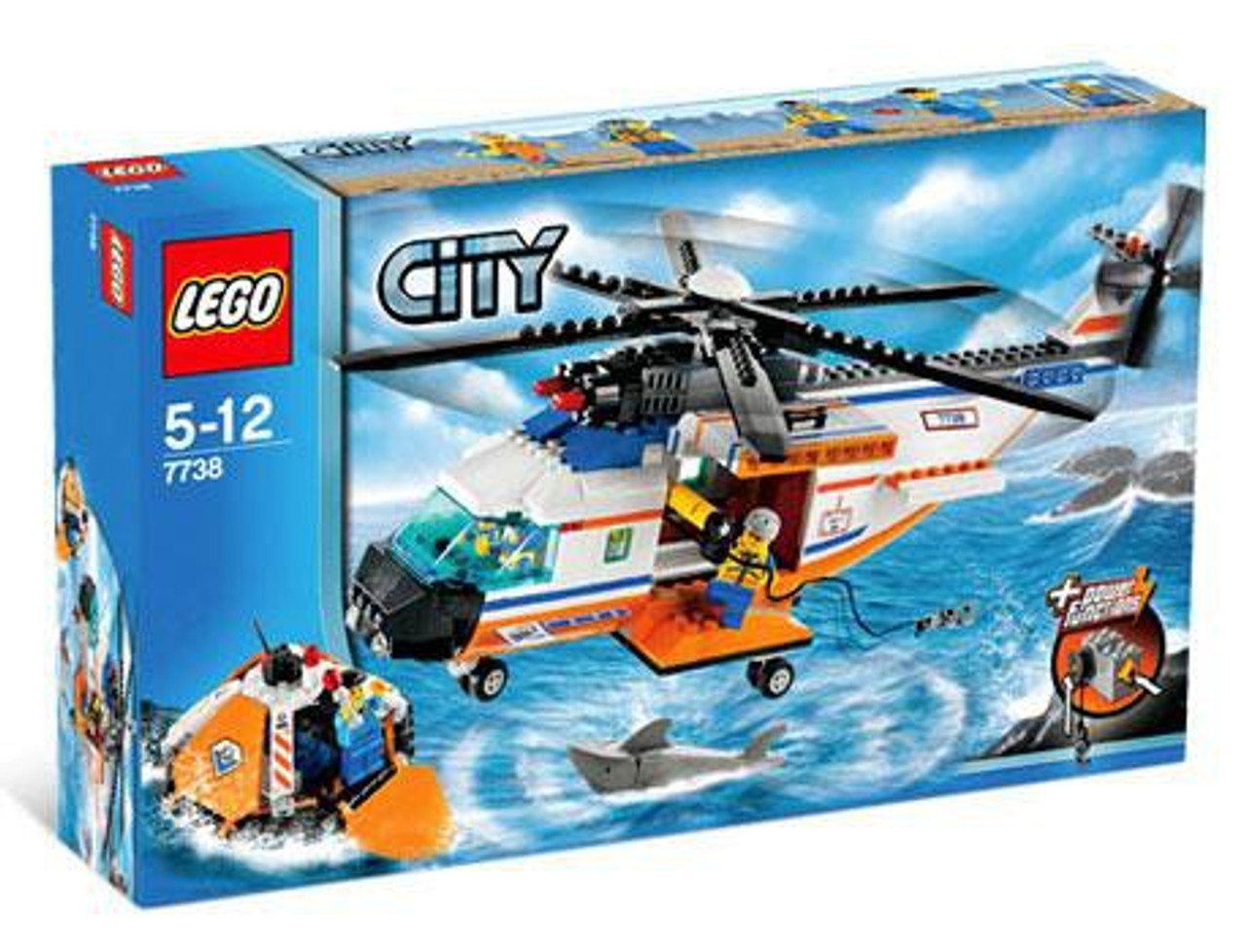LEGO City Coast Guard Helicopter & Life Raft Set #7738