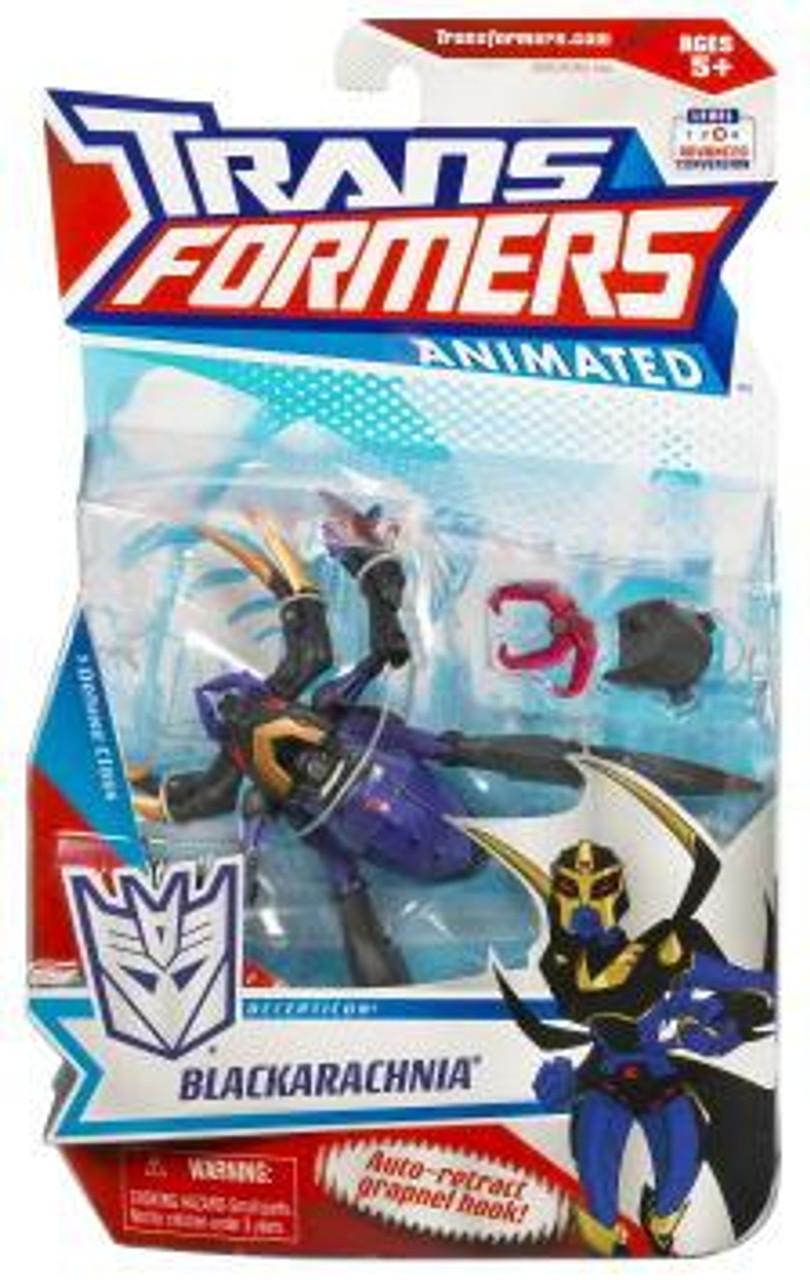 Transformers Animated Deluxe Black Arachnia Deluxe Action Figure