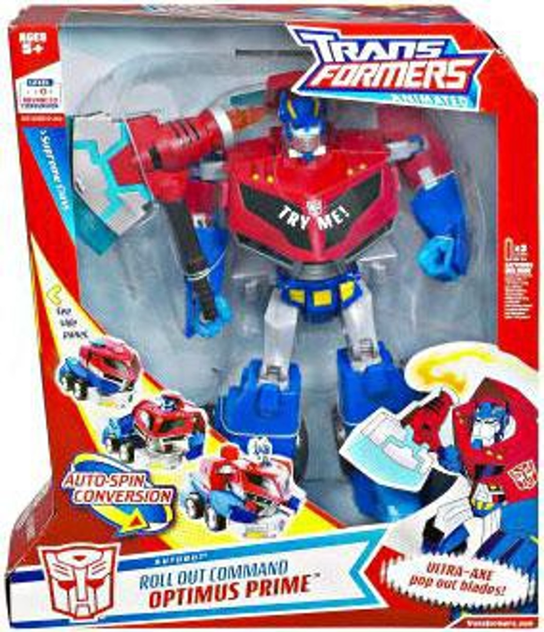 Transformers Animated Roll Out Command Optimus Prime Supreme Action Figure