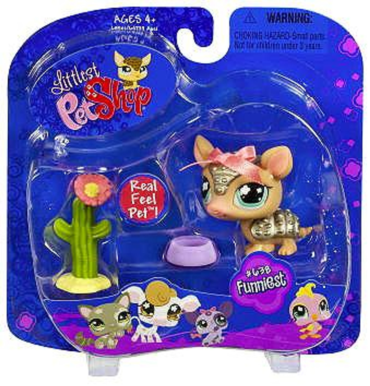 Littlest Pet Shop Armadillo Figure #638 [Cactus]