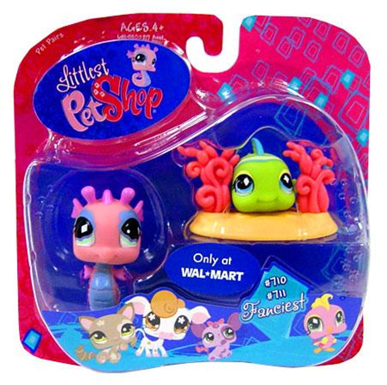 Littlest Pet Shop Seahorse & Clown Fish Exclusive Figure 2-Pack #710, 711