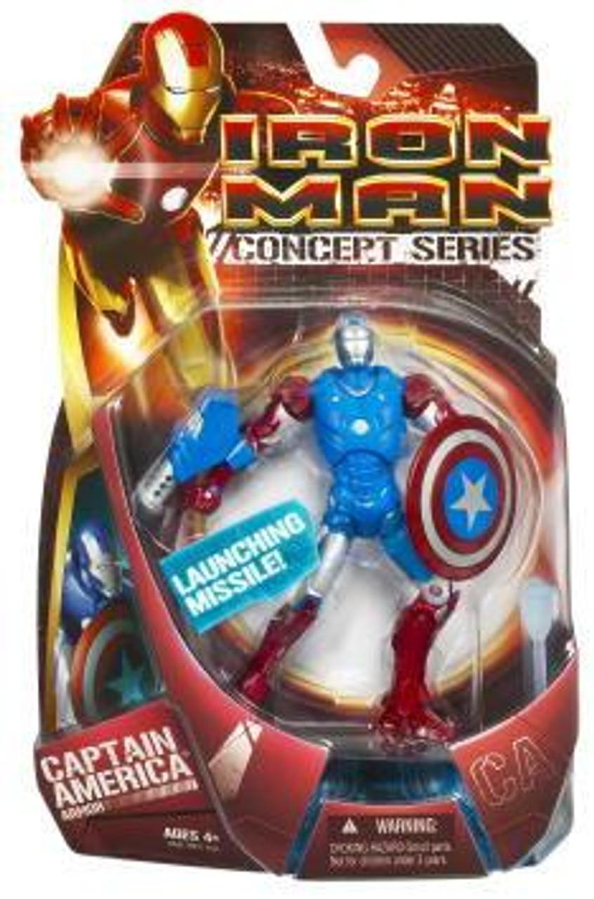 Iron Man Concept Series Captain America Armor Action Figure
