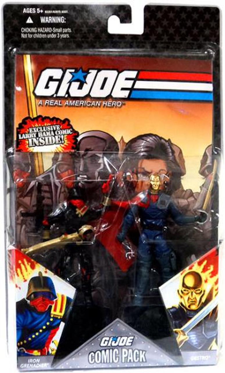GI Joe 25th Anniversary Wave 5 Comic Pack Destro & Iron Grenadier Action Figure 2-Pack