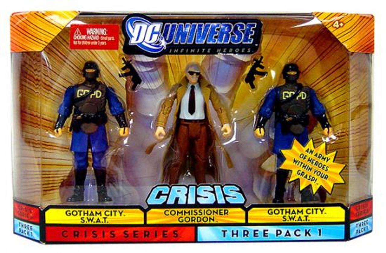 DC Universe Crisis Infinite Heroes Commissioner Gordon & Gotham City S.W.A.T Action Figures #1
