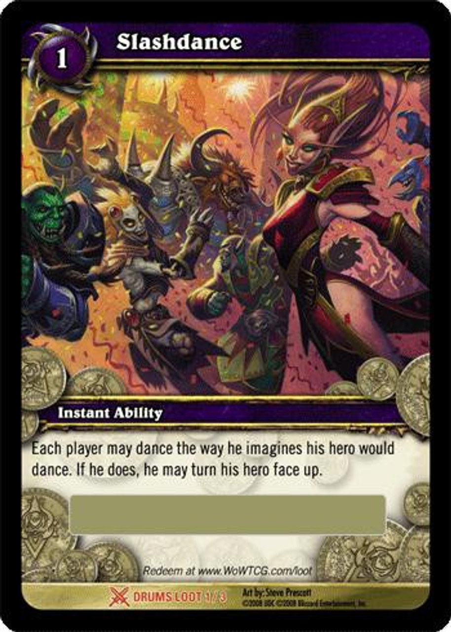 World of Warcraft Trading Card Game Drums of War Legendary Loot Slashdance #1