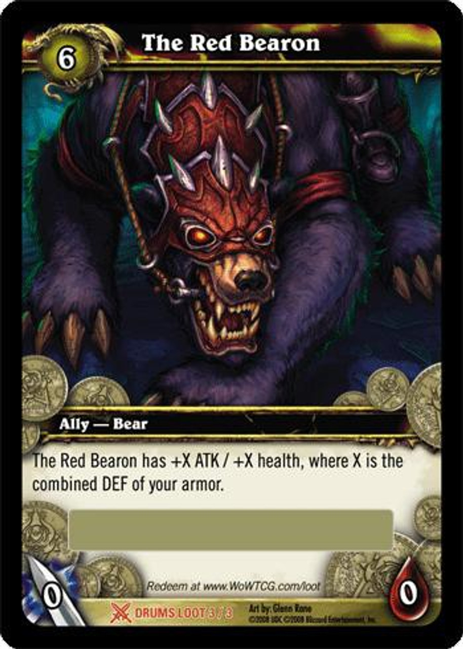 World of Warcraft Trading Card Game Drums of War Legendary Loot The Red Bearon #3