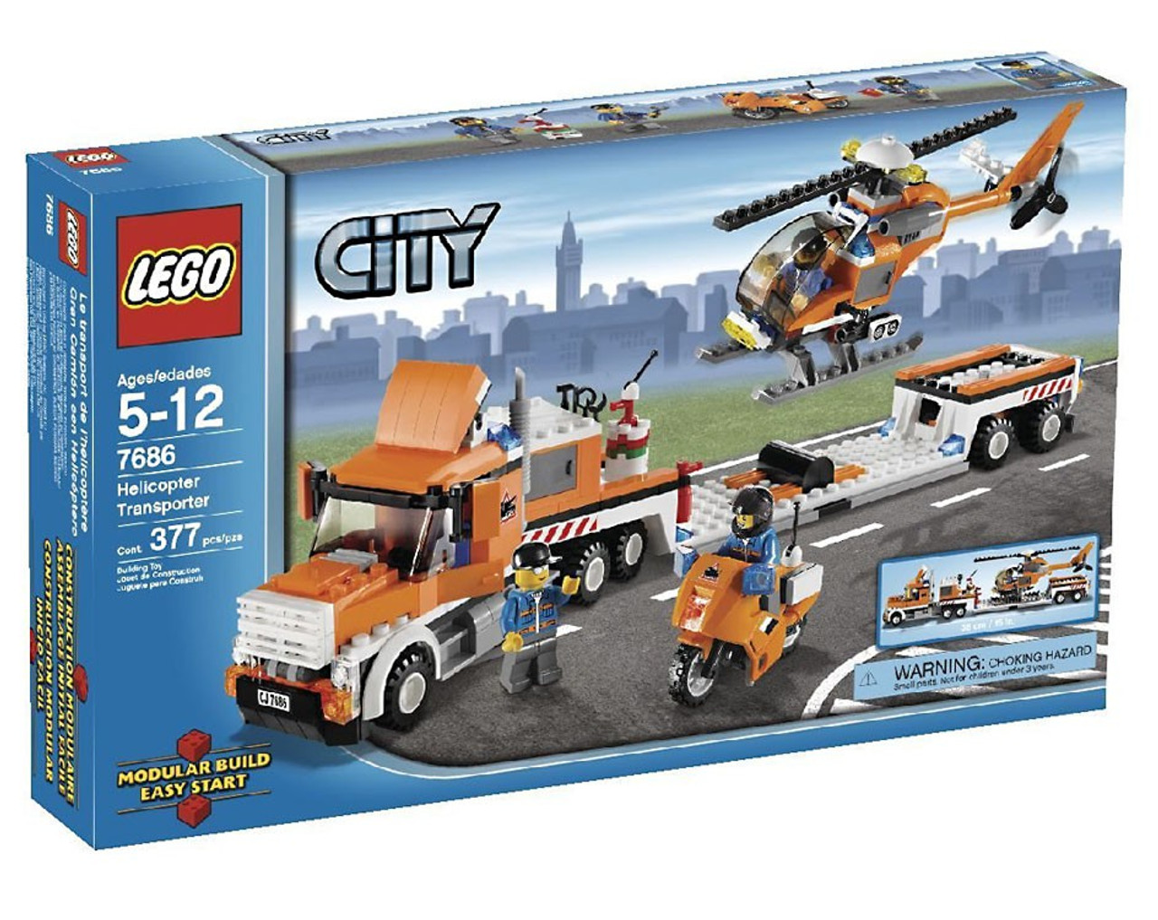 LEGO City Helicopter Transporter Set #7686