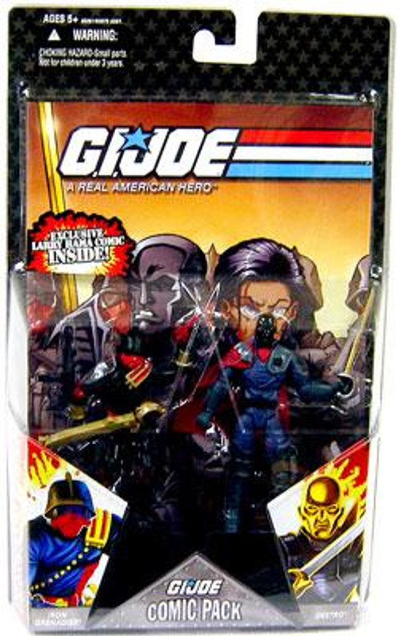 GI Joe 25th Anniversary Wave 5 Comic Pack Destro & Iron Grenadier Action Figure 2-Pack [Black Head Variant]