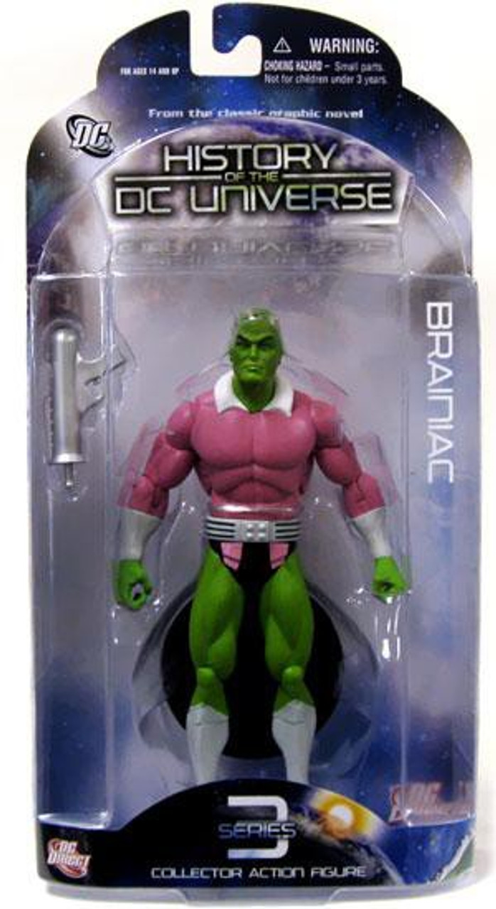 History of the DC Universe Series 3 Brainiac Action Figure