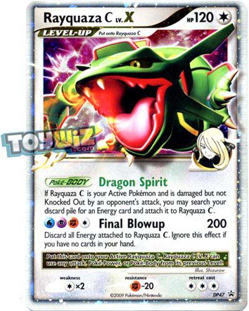 Pokemon promo single card ultra rare holo lv x rayquaza c - Lego pokemon rayquaza ...